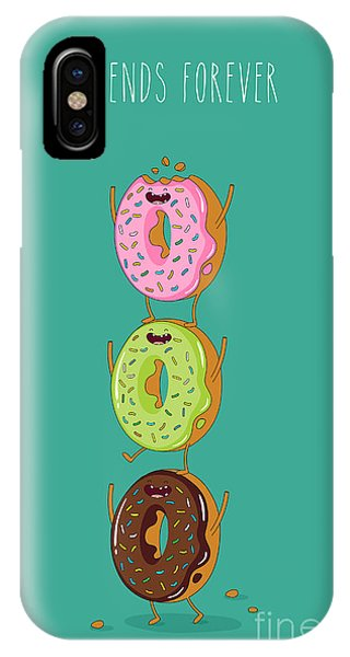 Cake iPhone Case - Funny Donuts. Vector Illustration by Serbinka