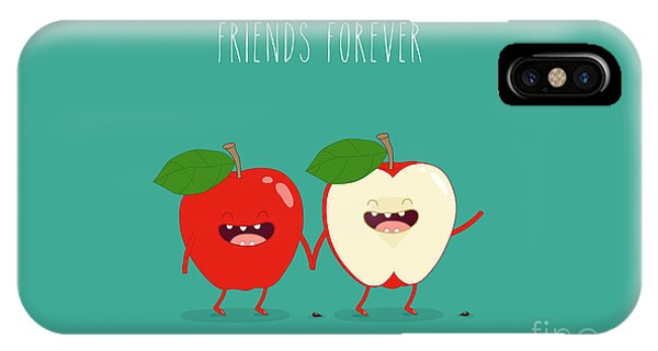 Ingredient iPhone Case - Funny Red Apple. Use For Card, Poster by Serbinka