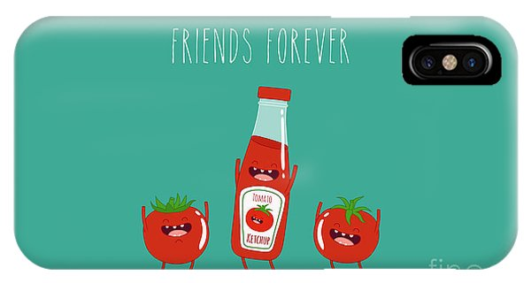 Ingredient iPhone Case - Funny Tomato Ketchup And Tomato. Friend by Serbinka