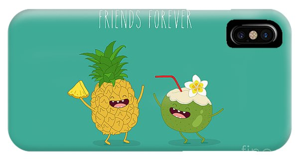 Summer Fruit iPhone Case - Funny Tropical Fruits. Pineapple And by Serbinka