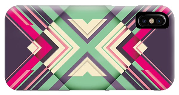 Violet iPhone Case - Futuristic Abstraction With Geometric by Radoman Durkovic