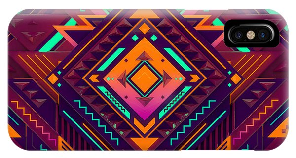 Maya iPhone Case - Futuristic Colorful Pattern. Triangles by Alx rmnwsky