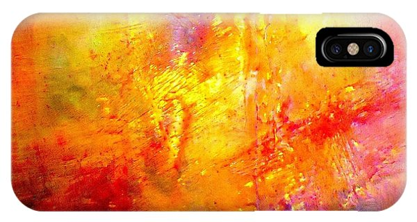 IPhone Case featuring the painting Galaxy Afire by VIVA Anderson