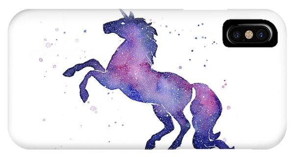 Unicorn iPhone Case - Galaxy Unicorn by Olga Shvartsur