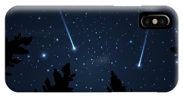 Shooting iPhone Case - Galaxy With Framed With Pine Trees by Acid2728k