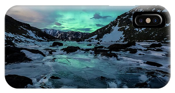 IPhone Case featuring the photograph Gale-force Aurora H by Tim Newton