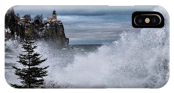 Split Rock iPhone Case - Gales Of December by Mary Amerman