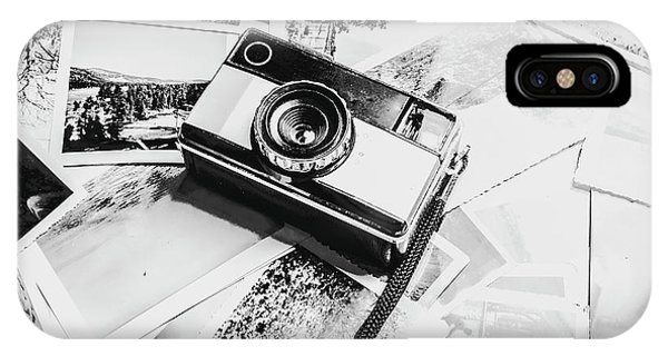 Vintage Camera iPhone Case - Gallery In Monochrome by Jorgo Photography - Wall Art Gallery