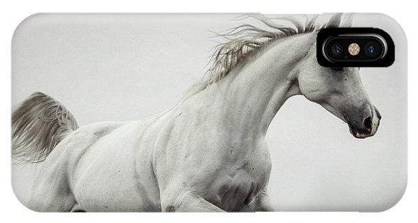 IPhone Case featuring the photograph Galloping White Horse by Dimitar Hristov