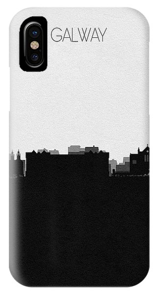 Irish iPhone Case - Galway Cityscape Art by Inspirowl Design