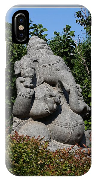 IPhone Case featuring the photograph Ganesha In The Garden by Debi Dalio