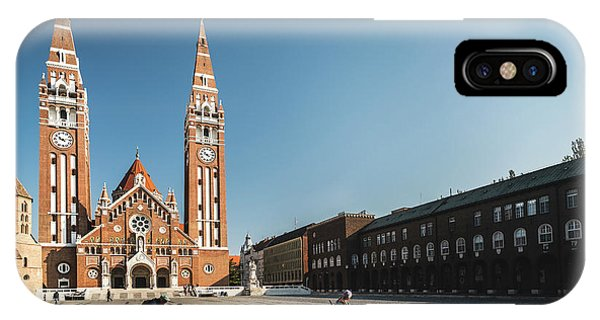 IPhone Case featuring the photograph Garbage Cleaners On Dom Square In Szeged  by Milan Ljubisavljevic