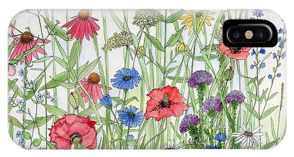 Garden Flower Medley Watercolor IPhone Case