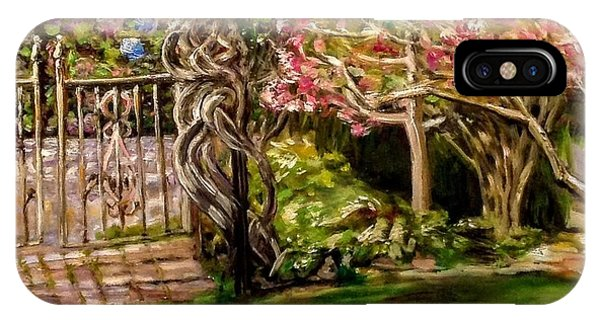 Garden Gate At Evergreen Arboretum IPhone Case