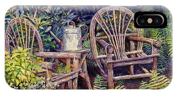 Porch iPhone Case - Garden Retreat by Hailey E Herrera