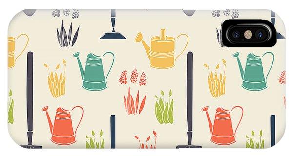 Garden Seamless Pattern Phone Case by Tashanatasha