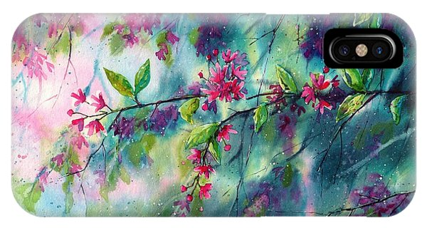 Grace iPhone X Case - Garlands Full Of Flowers by Suzann Sines