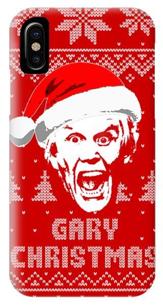 Winter Fun iPhone Case - Gary Busey Christmas Shirt by Filip Hellman