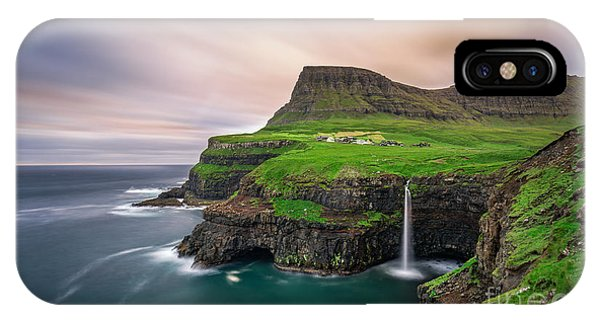 Layer iPhone Case - Gasadalur Village And Its Iconic by Nick Fox