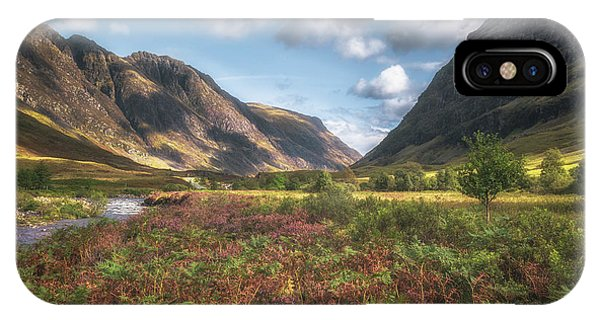 Beautiful Scotland iPhone Case - Gateway To Glencoe No 2 by Chris Fletcher