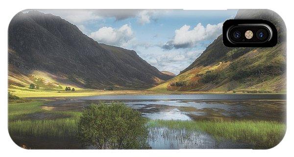 Beautiful Scotland iPhone Case - Gateway To Glencoe No 3 by Chris Fletcher
