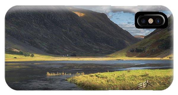 Beautiful Scotland iPhone Case - Gateway To Glencoe No 4 by Chris Fletcher