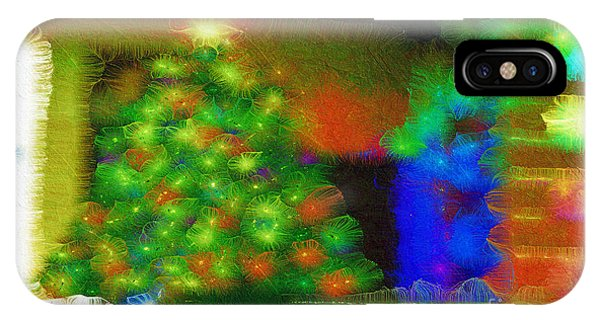 IPhone Case featuring the mixed media Gathering Around The Tree Of Our Shared Humanity Number 2  by Aberjhani
