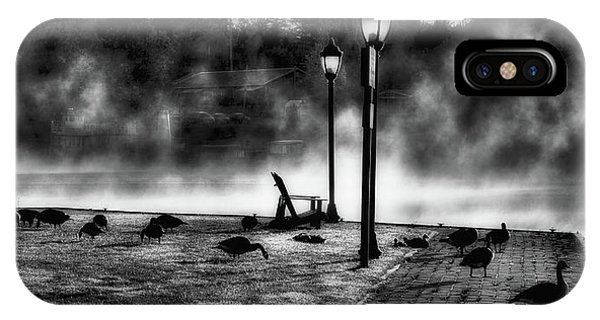 iPhone Case - Geese In The Mist by David Patterson