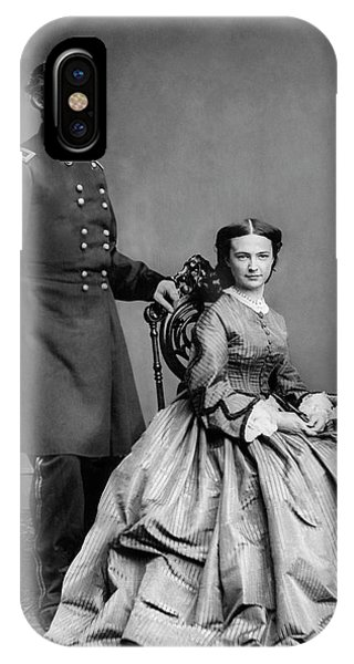Bacon iPhone Case - General Custer And His Wife Libbie by War Is Hell Store