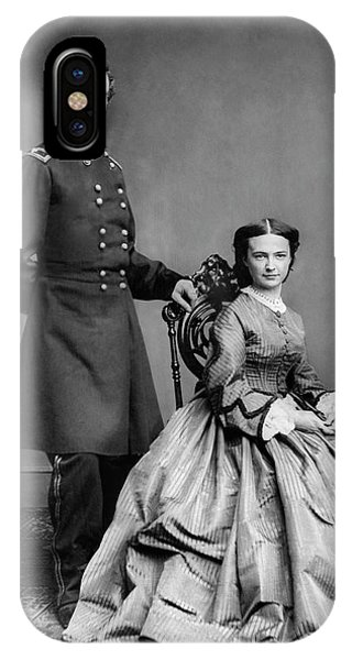 Cavalry iPhone Case - General Custer And His Wife Libbie by War Is Hell Store