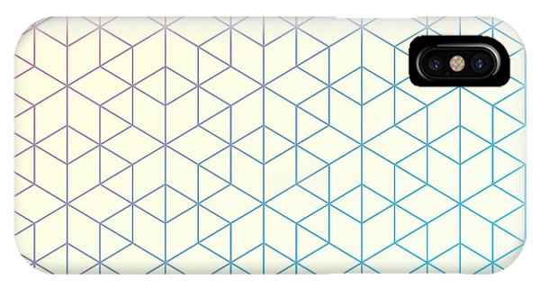 Vector iPhone Case - Geometric Pattern Of Intersecting by Vector Fx