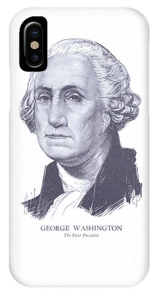iPhone Case - George Washington, The First President by Zal Latzkovich