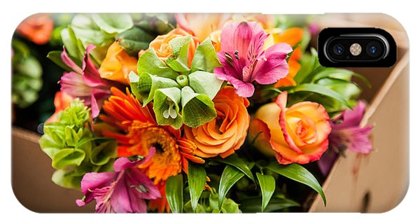Bouquet iPhone Case - Gerbera, Tulips And Mix Of Summer by Fotozotti