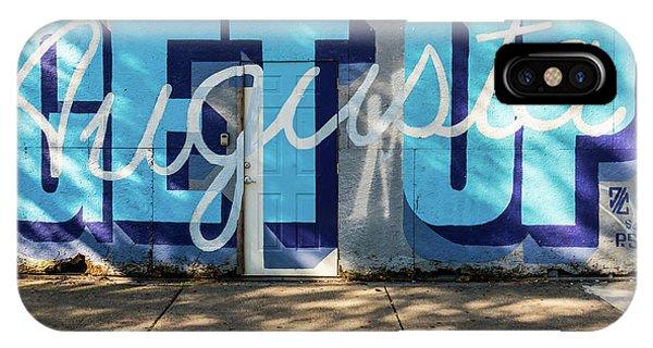 Get Up Augusta Ga Mural  IPhone Case