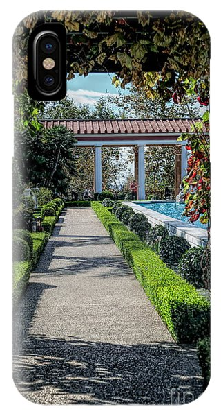 J Paul Getty iPhone Case - Getty Villa Pathway California  by Chuck Kuhn