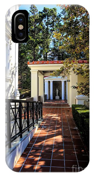 J Paul Getty iPhone Case - Getty Villa Pathway Exterior Landscape  by Chuck Kuhn