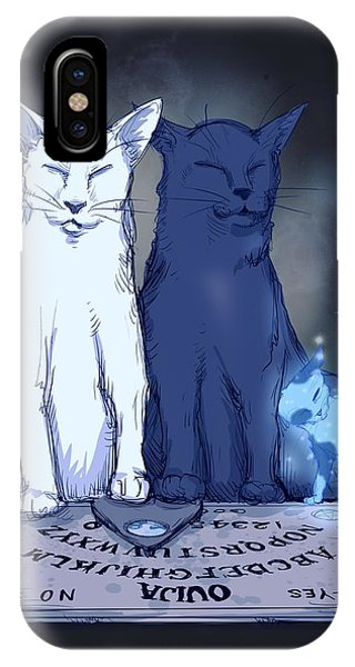 Kitten iPhone Case - Ghost Kitten by Ludwig Van Bacon