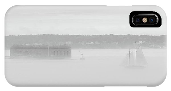 Ghost Ship Of Fort Gorges IPhone Case
