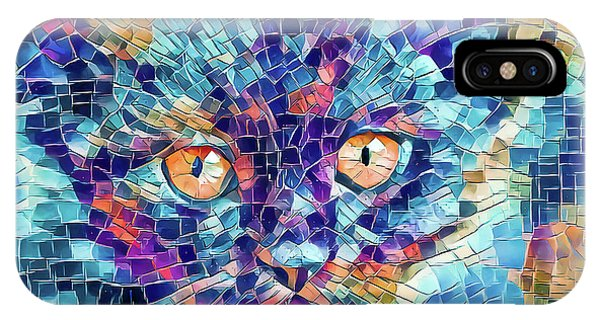 IPhone Case featuring the digital art Giant Head Mosaic Colorful by Don Northup