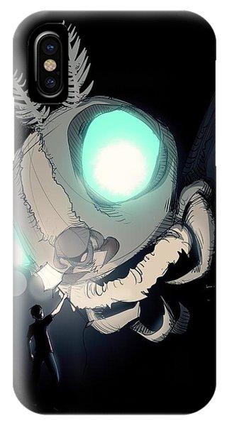 Moth iPhone Case - Giant Moth Vs Lamp by Ludwig Van Bacon