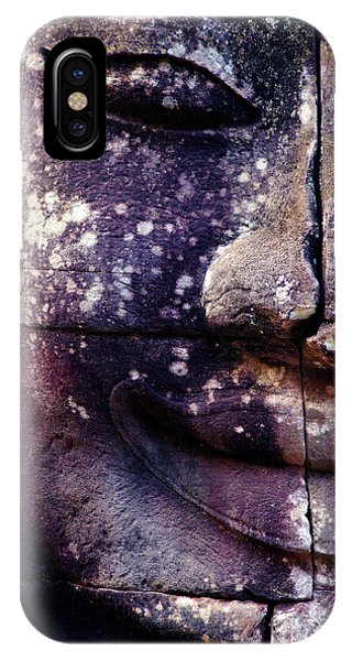 Past iPhone Case - Giant Smiling Face Bayon Temple, Angkor by D'july