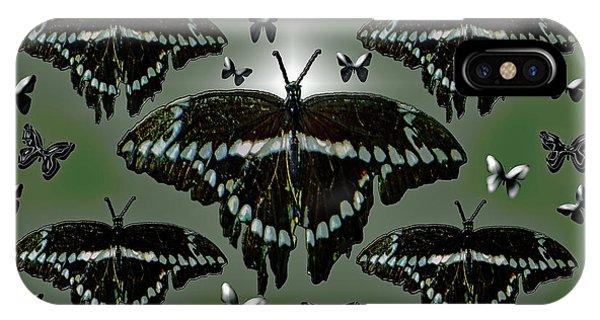 Giant Swallowtail Butterflies IPhone Case