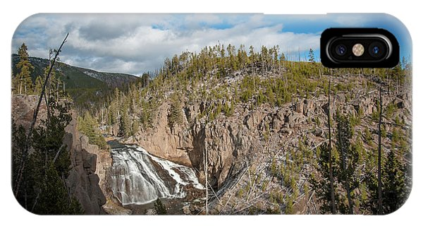 IPhone Case featuring the photograph Gibbon Falls In Yellowstone by Mark Duehmig