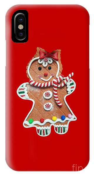 IPhone Case featuring the photograph Gingerbread Cookie Girl by Rachel Hannah