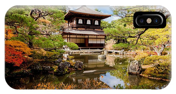 Serenity iPhone Case - Ginkakuji Temple - Kyoto, Japan by Pigprox