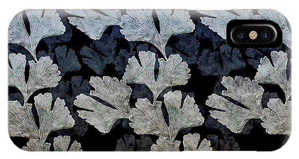 Ginko Leaf Pattern IPhone Case