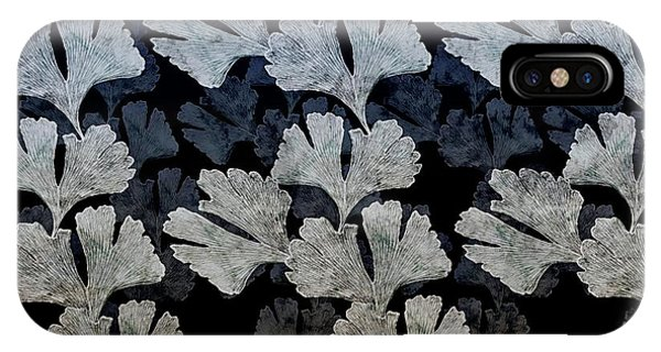 Ginko Leaf Pattern IPhone Case