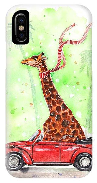 Giraffe In A Beetle IPhone Case