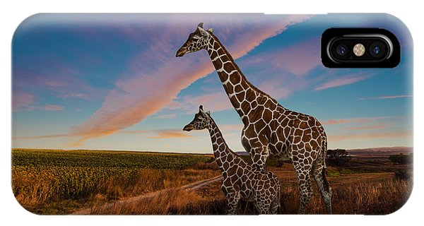 Young iPhone Case - Giraffes And The Landscape by Nexus 7