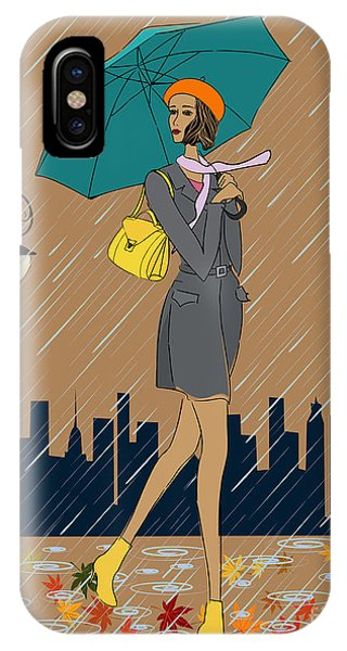 One iPhone Case - Girl In The Rain by Fresher